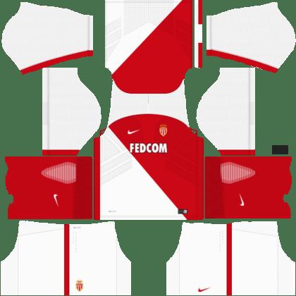 dream league soccer monaco fc home kit