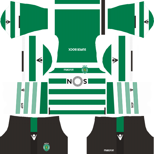 Sporting CP Home Kits DLS 2018