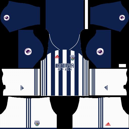 West Bromwich Albion F.C. Home Kits DLS 2018