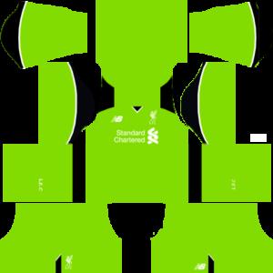 Liverpool Goalkeeper Home Kits DLS 2018