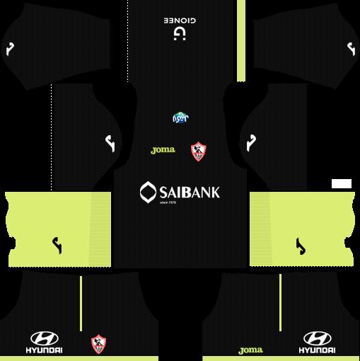 Al-Zamalek SC Goalkeeper Home Kits DLS 2018