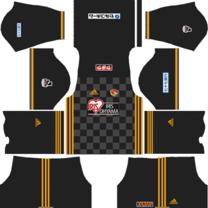 Vegalta Sendai Goalkeeper Away Kits DLS 2018