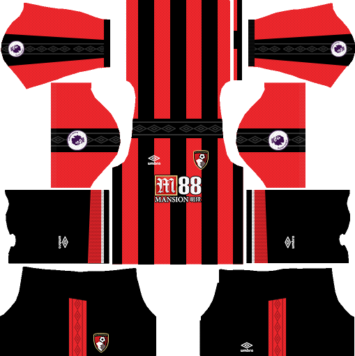 A.F.C. Bournemouth Home Kits DLS 2018