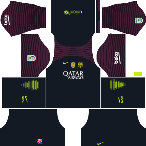 Barcelona Goalkeeper Home kit DLS 2018