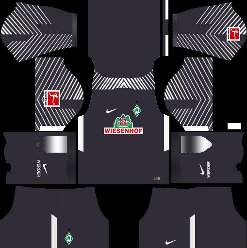 SV Werder Bremen Goalkeeper Third Kits DLS 2018