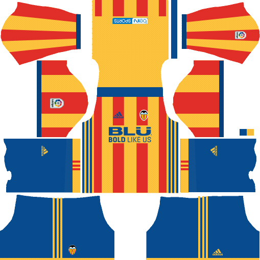 Dream League Soccer Valencia away kit 2018 - 2019