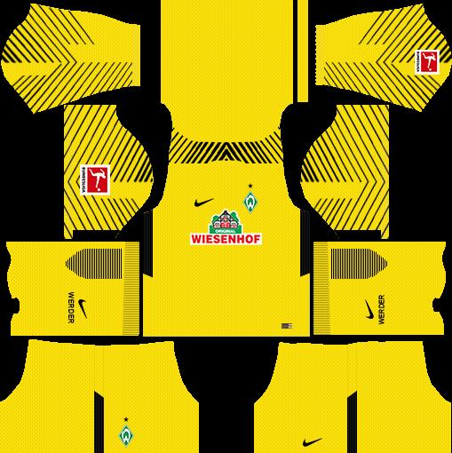 SV Werder Bremen Goalkeeper Home Kits DLS 2018