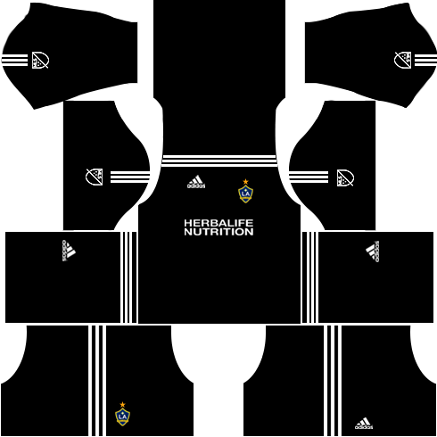 LA Galaxy Goalkeeper Home Kits DLS 2018