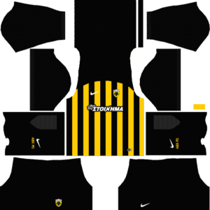 Dream League Soccer AEK F.C Kits and Logos 2018, 2019 – [512X512]