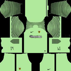 AEK F.C. Goalkeeper Home Kits DLS 2018