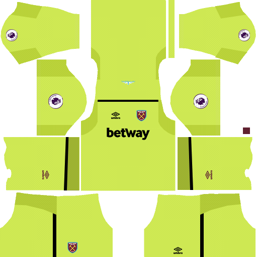West Ham United Goalkeeper Home Kits DLS 2018