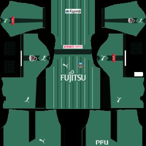 Kawasaki Frontale Goalkeeper Home Kits DLS 2018