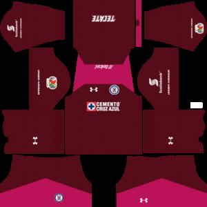 Cruz Azul Goalkeeper Away Kits DLS 2018