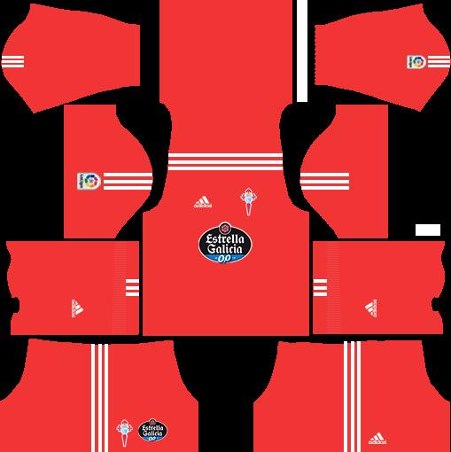 Celta Vigo Goalkeeper Away Kits DLS 2018