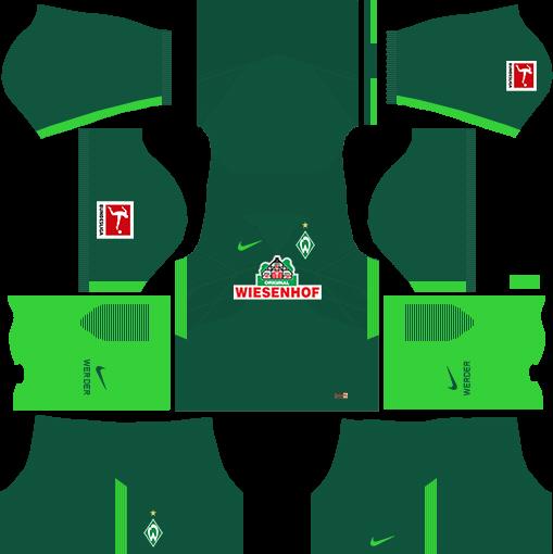 SV Werder Bremen Home Kits DLS 2018