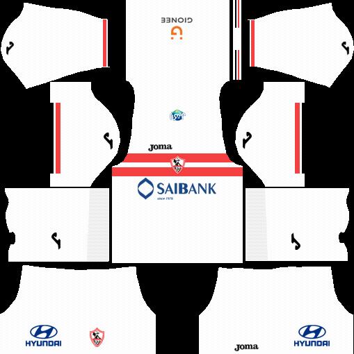 Al-Zamalek SC Home Kits DLS 2018