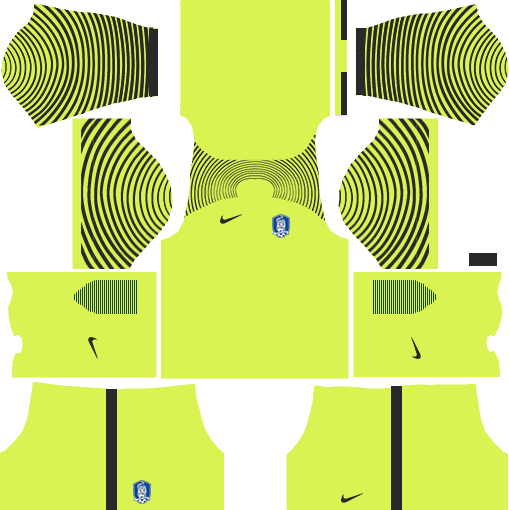 South Korea Goalkeeper Away Kits DLS 2018