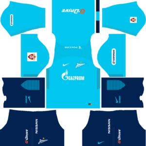 Zenit St Petersburg Home Kits DLS 2018