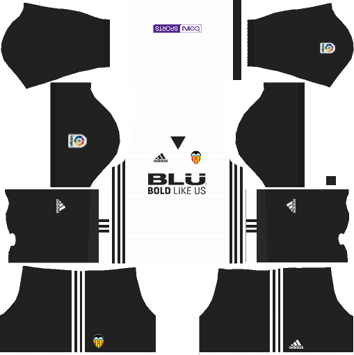 Dream League Soccer Valencia home kit 2018 - 2019