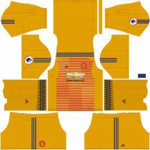 Dream League Soccer Manchester United Goalkeeper Away2018 - 2019 Kits