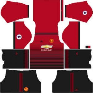 Dream League Soccer Manchester United Home Kits 2018 - 2019
