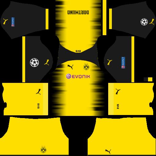Borussia Dortmund International (UCL) Kits DLS 2018