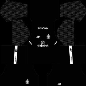 Celtic FC Goalkeeper Away Kit DLS 2018