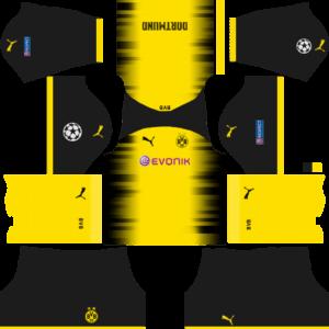 Borussia Dortmund International (UCL) Kits - Black Shorts DLS 2018