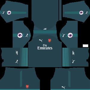 Arsenal Goalkeeper Home kit DLS 2018