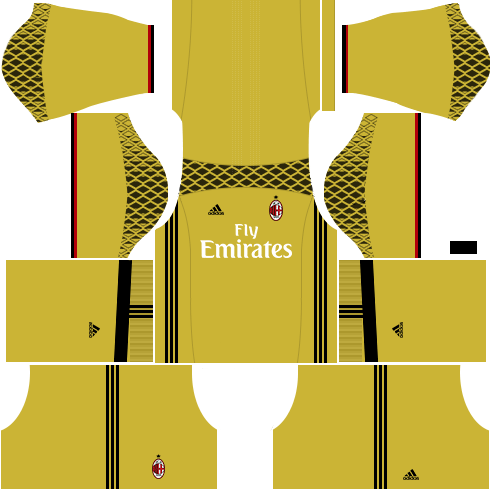 dls ac milan kits- gk away kit