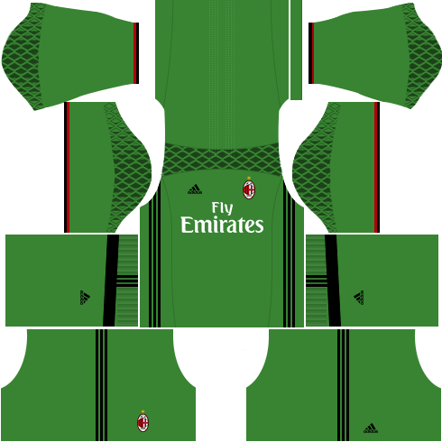 dls ac milan kits- gk home kit