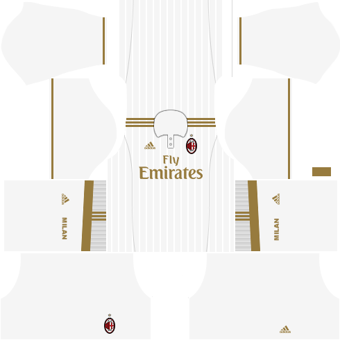 dream league soccer ac milan kits - away