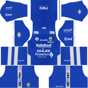 Dream League SoccerPersib Bandung Kits and Logos 2018, 2019 - [512X512]