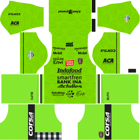 bali united goalkeeper away kit 2018 - 2019