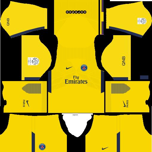 dream league soccer psg kits - away kit