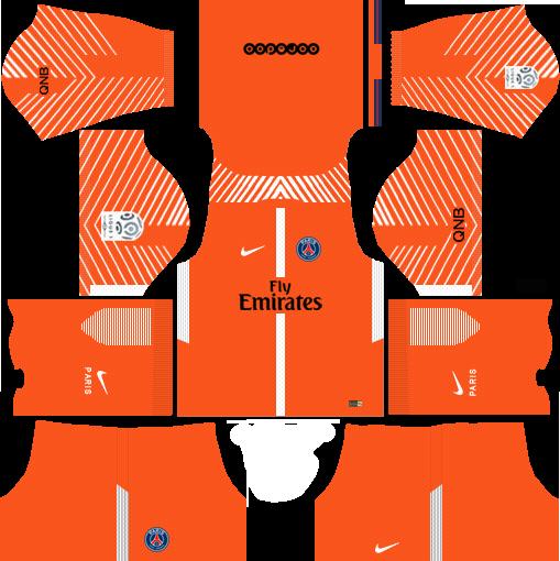 dream league soccer psg gk home kit
