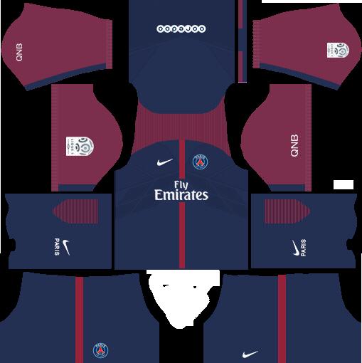 dream league soccer psg kits - home kit