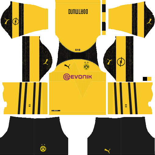 Borussia Dortmund dls team home kit