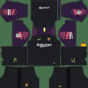 Dream League Soccer Barcelona goalkeeper home kit 2018 - 2019
