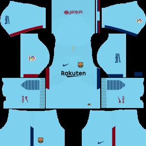 Dream League Soccer Barcelona away kit 2018 - 2019