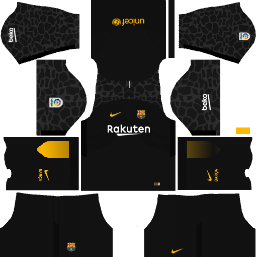 dream league soccer barcelona gk away kit