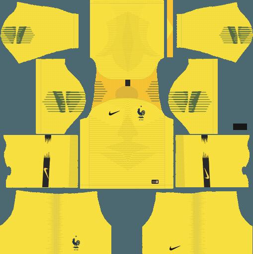 dream league soccer france gk kit home