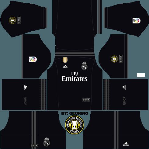 dream league soccer real madrid kit - away kit