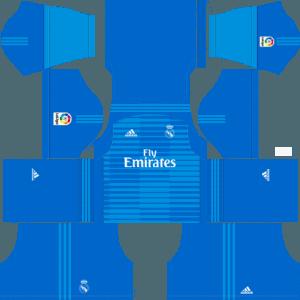 Dream League Soccer Real Madrid goalkeeper away kit 2018 - 2019