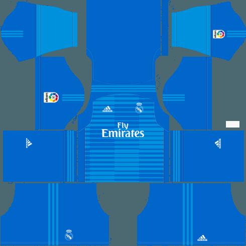 dream league soccer real madrid gk away kit