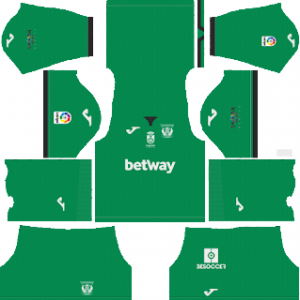 Dream League Soccer CD Leganes goalkeeper home kit 2018 - 2019