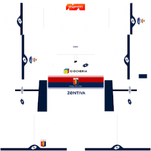 Dream League Soccer Genoa away kit 2018 - 2019