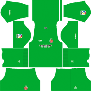 Dream League Soccer Girona goalkeeper home kit 2018-2019