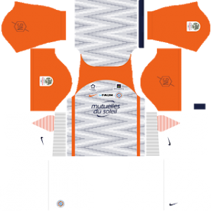 Dream League Soccer Montpellier away kit 2018 - 2019