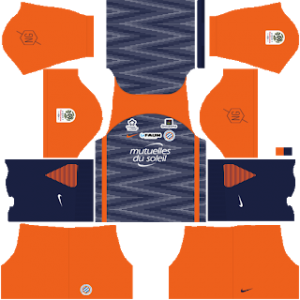 Dream League Soccer Montpellier home kit 2018 - 2019